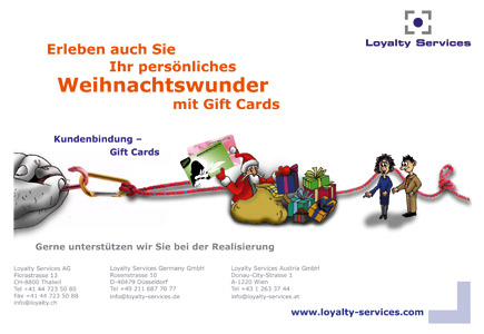 Flyer für Loyalty Services